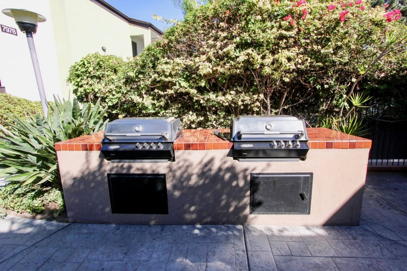Outdoor garden ovens in Park Villas North, Mission Valley, California