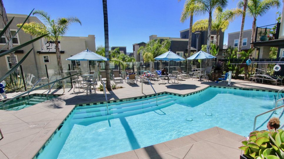 Swimming pool in Skyloft at Origen Mission Valley California
