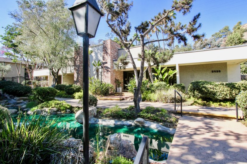 Single Level Home with Pond in The Bluffs, Mission Valley, California
