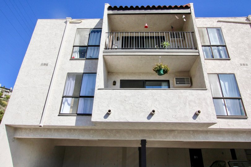 2 storey apartment building at The Franciscan, Mission Valley, California