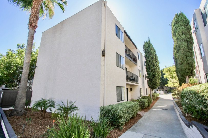 """An apartment-style bulding in the """"The Franciscan"""" community in Mission Valley, California"""
