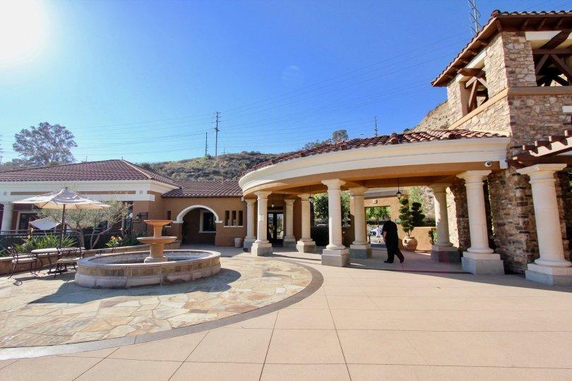 Verandas at Escala , Mission Valley,  .California,blue sky,stone building