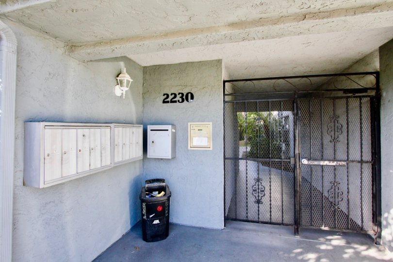 Facility and security gate of 2230 Monroe Ave, Normal Height, california