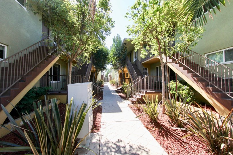 Walkway outside Adams Ave at the Park in Normal Heights, California