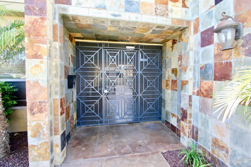 Beautiful tile entry way in Normal Heights California