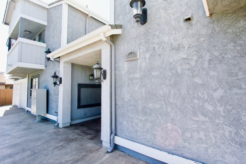 The front side of villas at 4444, Normal Heights, California
