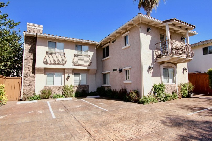 A bright view of Collier Court in Normal Heights, California.