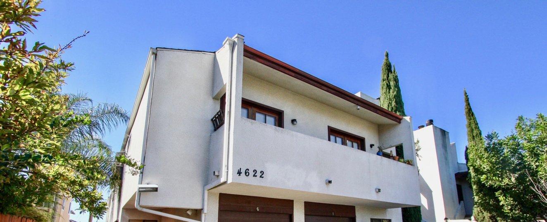 The balcony seen at Felton Park Villas in Normal Heights, California