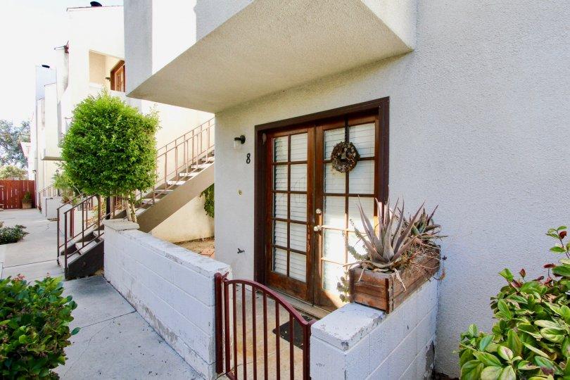 The patio doors at Felton Park Villas in Normal Heights, California