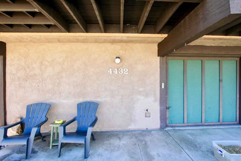 A closer feel of Apartment number 4432 and it's wood finish, Magnolia Manor, Normal Heights, california