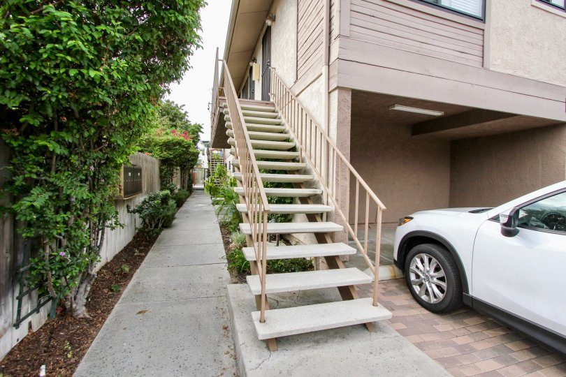 3766 31st St  , North Park,: California,white car front,stairs
