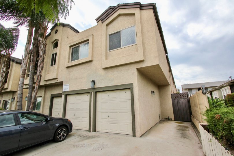 Secure entrance, including security cameras on the two story garage community of 3814 35th St in North Park, CA