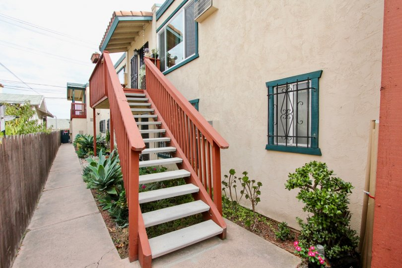 Stairway and residential building at 3965 Iowa St in North Park CA