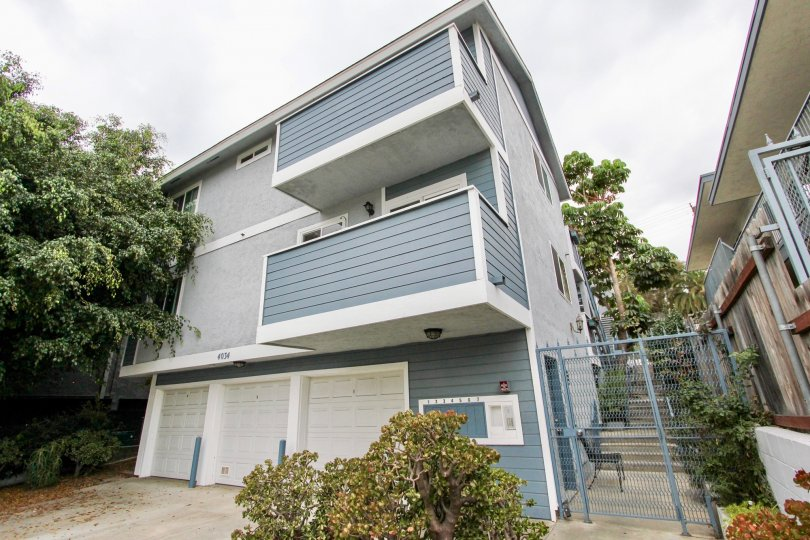 Three story housing units with attached garages at 4034 Florida St in North Park California