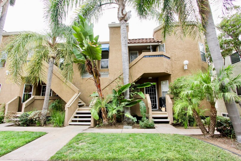 Housing with attached stairways at Balboa Park Villas in North Park California