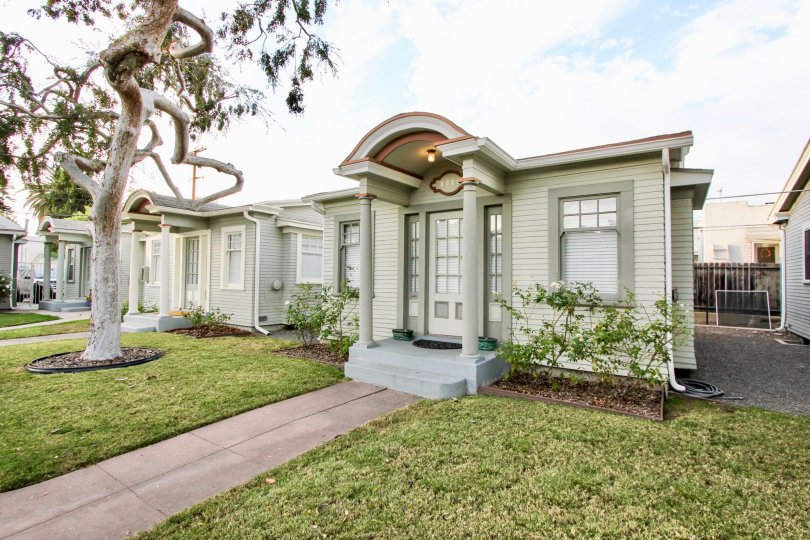 Colonial Court,North Park,: California, white building,lawn