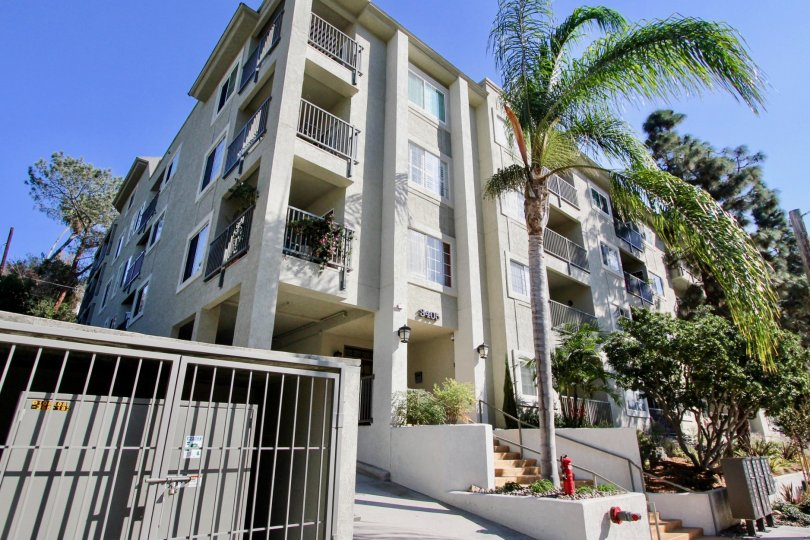 Coventry Woods  ,North Park, California,off white building,balcony