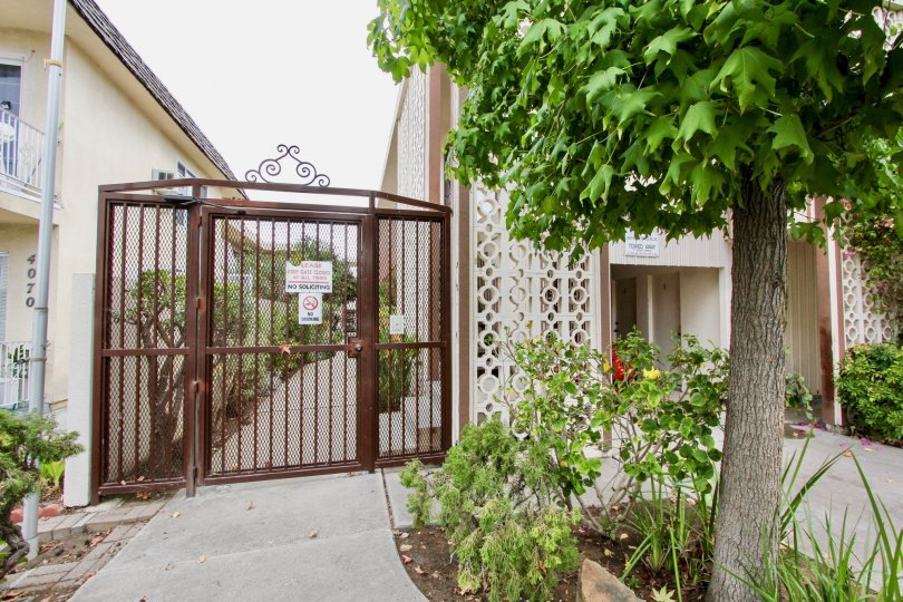 The Golden Oaks gated apartment complex in North Park, Ca.