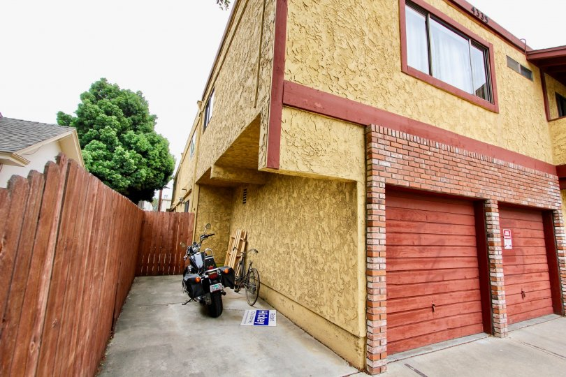 Residence with attached garages at Hamilton Chateau in North Park California