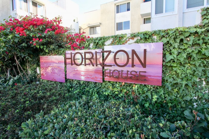 Community sign at Horizon House in North Park California
