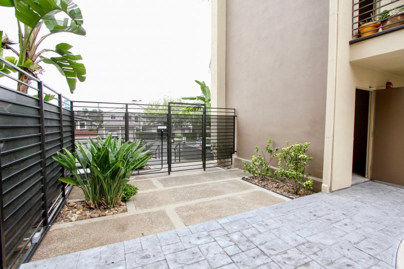 Patio balcony near residence at Louisiana Condominiums in North Park California