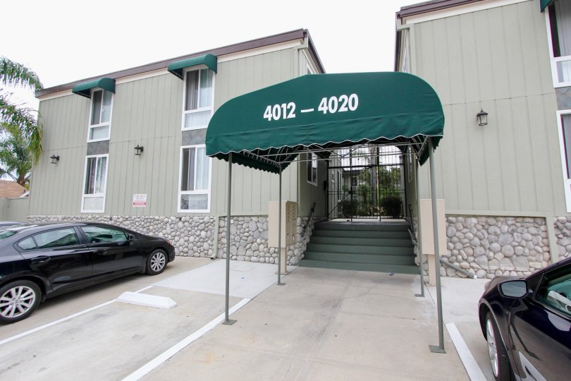 Mississippi Townhomes , North Park  , California,number,pebbled wall