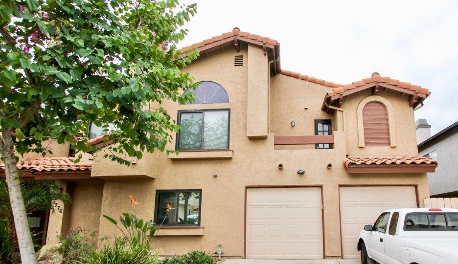 Pershing Park Villas, North Park, California, adobe, roof tiles, garage