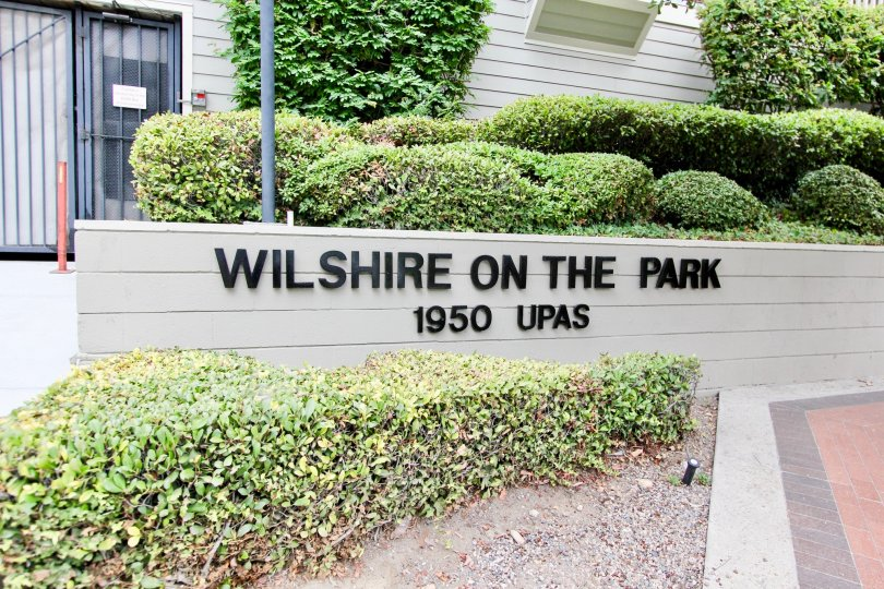 The Wall in The Wilshire on the Park marked with the community park added with 1950 UPAS