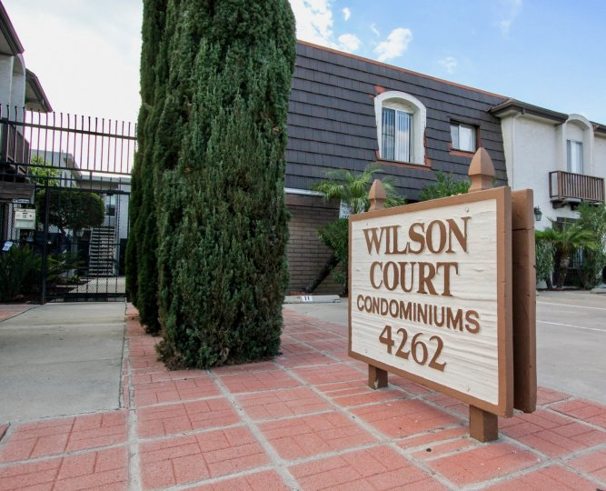 Gated condominiums in North Park California Wilson Court