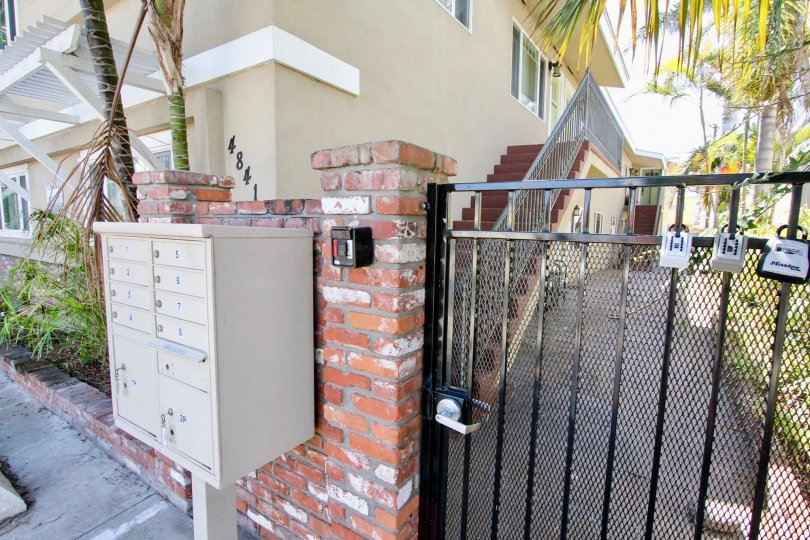 locked gate at 4841 del monte avenue in ocean beach california