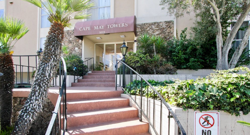 Cape May Towers is a huge nice building with nice gardening and elevation.