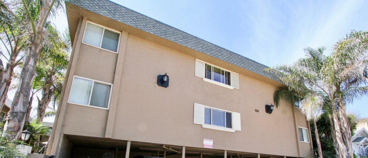 The building in the Casa Marina complex community located in Ocean Beach CA.