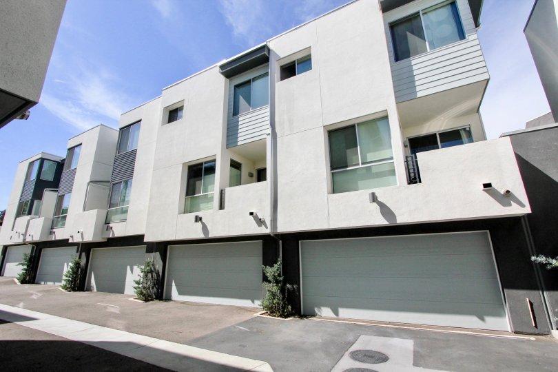 The modern-looking Famosa Townhomes in Ocean Beach, California