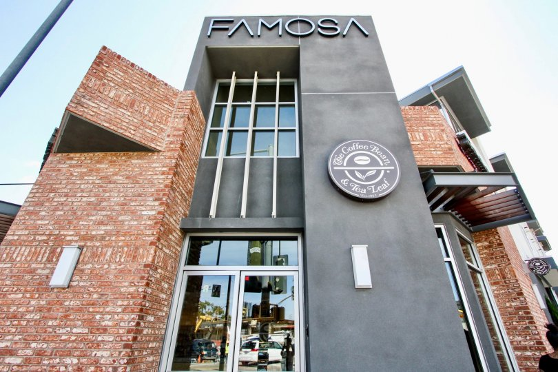 Top angle view of the building of Famosa Townhomes