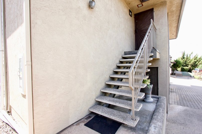 A Glimpse at the side entrance at the Harbor Villas Community in Ocean Beach, CA