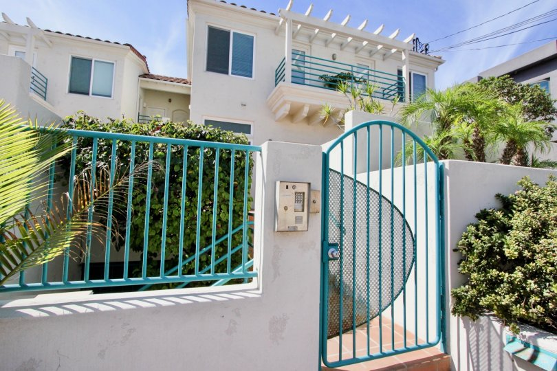 Ocean Front Condos in Ocean Beach, California, Front Gate