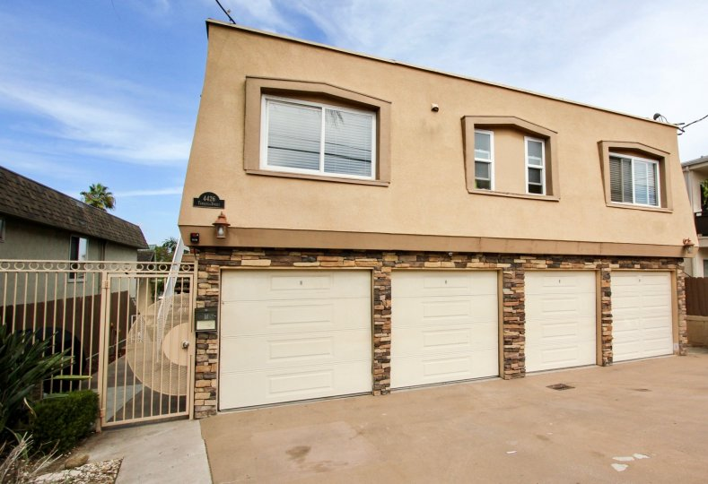 Temecula Heights Apartments in Ocean Beach, California, Garages, Driveway, Gate