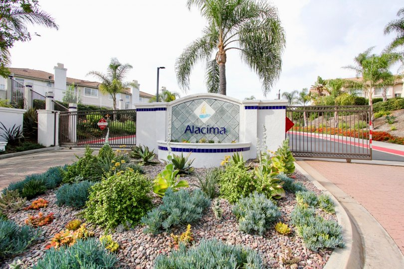 Simple and beautiful entrance to Alacima, Oceanside, California