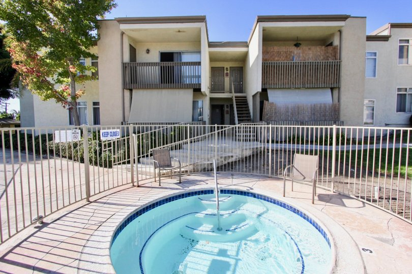 Pool and patios are all yours when you are staying at Arbor Hill in Oceanside, CA