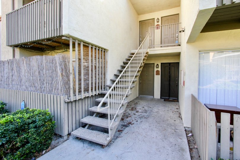 Two level apartment with a privacy screen included at Arbor Hill in Oceanside, CA