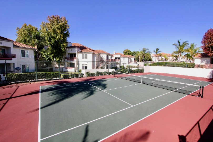 Avalon at Eagles Crossing's Tennis Yard, Beautiful and Simple, Oceanside, California