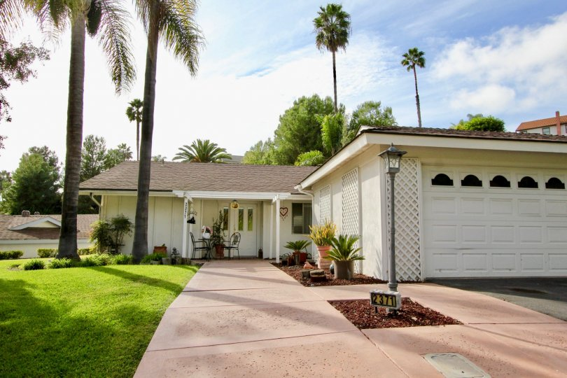 Camino Crest, Oceanside, California, lawn, tall tres