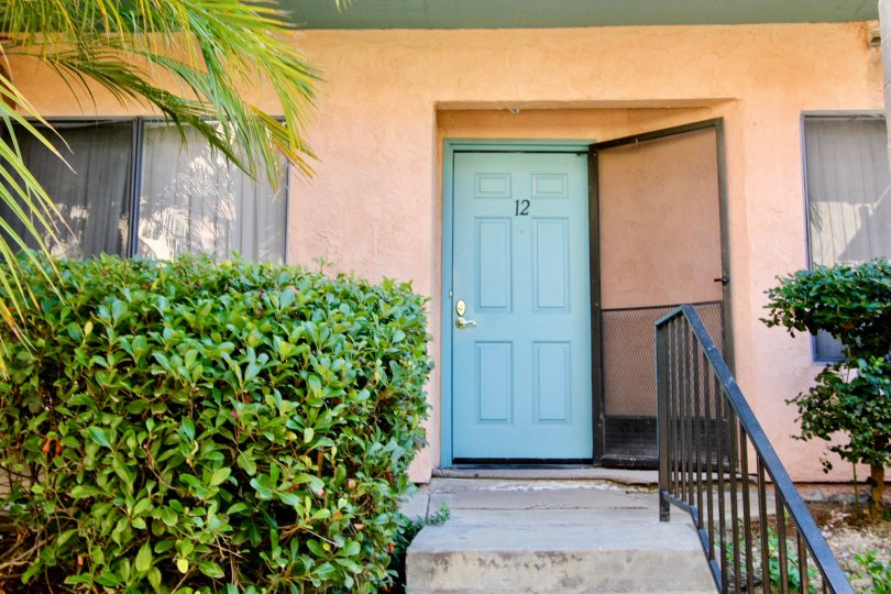 Canyon Grove, Oceanside, California, blue door, steps