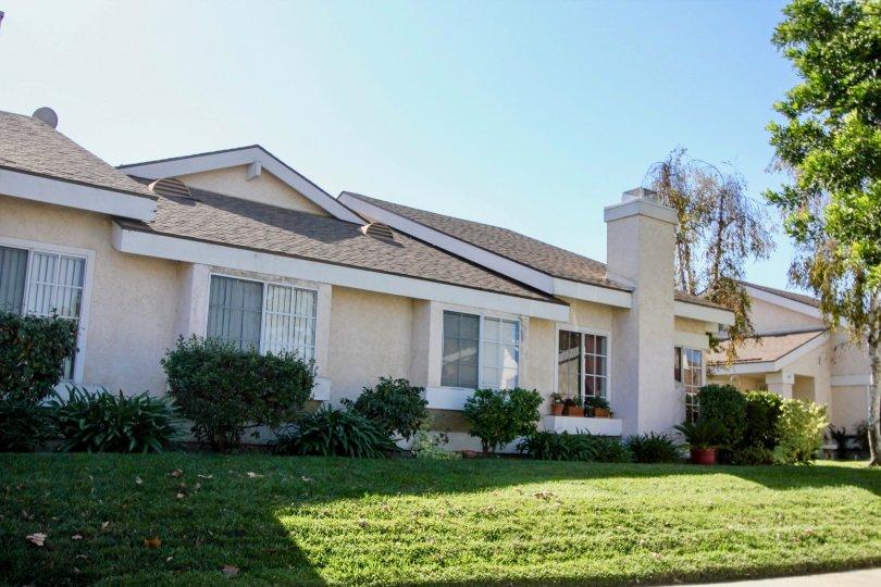 Carefree Village, Oceanside, California, lawn, pale blue sky