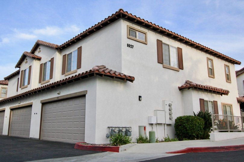 Lots of garage space and close to the street at Casistas at Spring Creek in Oceanside, CA