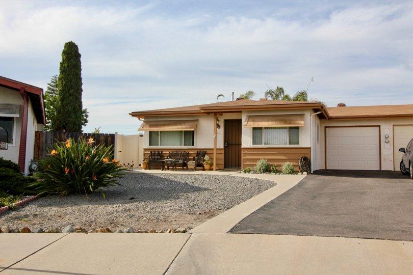 Clean homes of Costa Serena, Oceanside, California