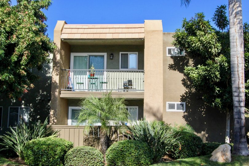 Two story 70s style condominiums inside La Estancia at Oceanside CA