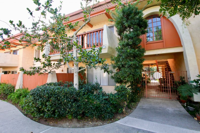 An outside entrance to the La Montana property in Oceanside CA