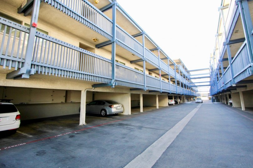 Apartment complex with parking access in Marina Del Mar in Oceanside, California