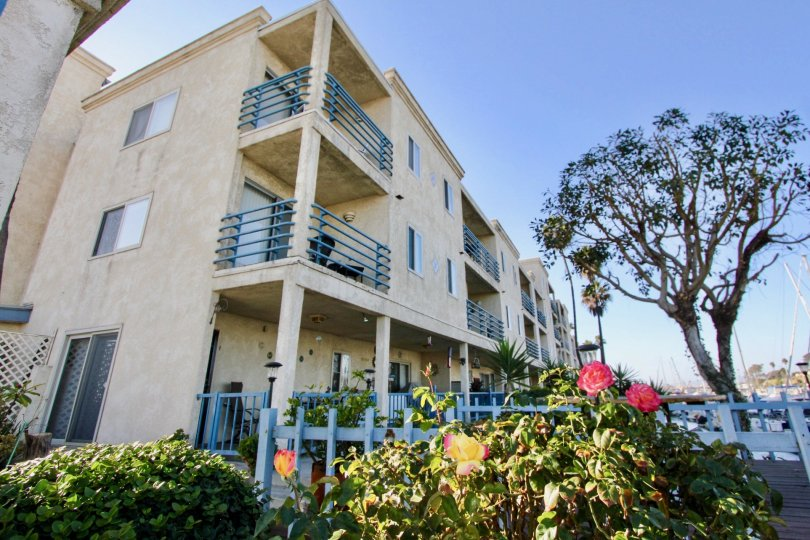 Corner view of complex in Marina Del Mar Oceanside California
